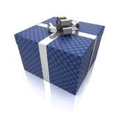 Gift box with patterns — Stock Photo