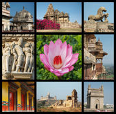 Go India collage - travel photos — Stock Photo