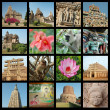 Go to India collage -  travel photos - Stock Photo