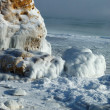 Winter storm seascape - frozen sea — Stock Photo