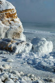 Winter storm seascape - frozen sea — Stock Photo