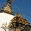 Swayambhunath stupa at Kathmandu,Nepal - Lizenzfreies Foto