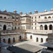 Court of Raj Mahal palace at Orcha,India - Stock Photo