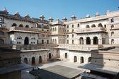 Court of Raj Mahal palace at Orcha,India — Stock Photo