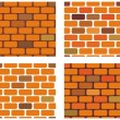 Stock Vector: Four brick seamless vector texture