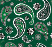 Islamic paisley green vector pattern — Stock Vector