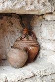 Ceramiche moldavo - brocche per olio — Foto Stock