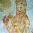 Wall painting in Sigiriya rock monastery, Sri Lanka — Stock Photo