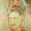 Wall painting at Sigiriya rock monastery, Sri Lanka - Stockfoto