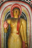 Statue of Buddha at Dambulla cave temple complex,Sri Lanka Unesc — Stock Photo