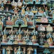 Stock Photo: Decoration of Hindu Srirangam Temple in Tiruchirapalli,India