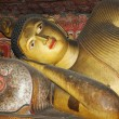 Statue of lying Buddha at Dambulla cave temple complex,Sri Lanka - Stockfoto
