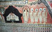 Fresco in dambulla cave tempel complex, sri lanka — Stockfoto