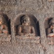 Buddha statues at Ajanta, famous cave temple complex,India - Stockfoto