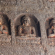 Buddha statues at Ajanta, famous cave temple complex,India - Lizenzfreies Foto