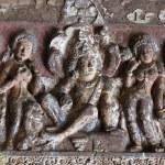 Buddha life scenes at Ajanta, famous cave temple complex,India — Stock Photo #3413506