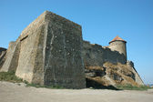 Old Akkerman fortress with cannon balls embedded to the wall — Stock Photo