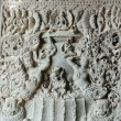 Carvings at Ajanta cave temple complex ,India - Stock Photo