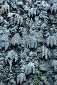 Artificial stalactite - exterior decoration background — Stock Photo