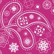 Vector de stock : Retro seamless indipink paisley vector pattern