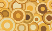 Retro seamless abstract vector texture with circles — Stock vektor