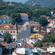 Old Plovdiv cityscape with timber roofs,Bulgaria - Stock Photo