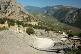 Ruins of ancient amphitheater in Delphi,Greece — Stock Photo