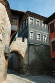 Medieval houses of old center in Plovdiv,Bulgaria — Stock Photo