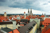Old Regensburg roofs ,Bavaria,Germany,Unesco heritage — Stock Photo