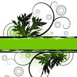 Green floral banner — Stock Vector #2799496
