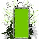 Green floral banner — Stock Vector