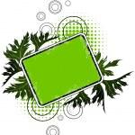 Green floral banner — Stock Vector #2799696