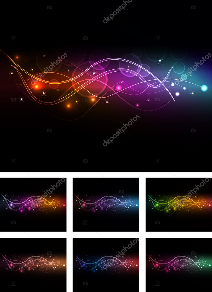 Abstract background with glowing elements  Stock Vector #3692014