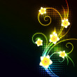 Glowing floral background — Image vectorielle