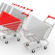 Carts built abreast — Stock Photo