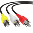 cable de audio y video — Foto de Stock