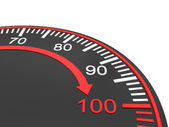Hız göstergesi ölçek — Stok fotoğraf
