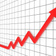 Red arrow graph — Stock Photo #3324621