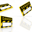 Sign DANGER — Stock Photo