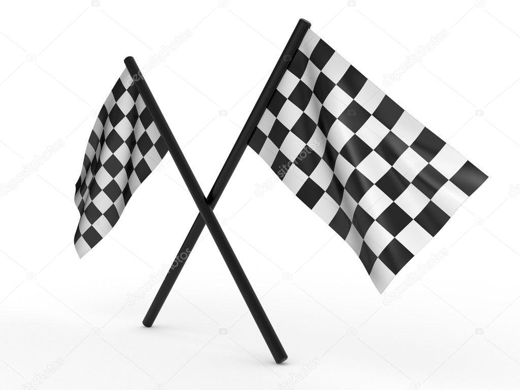 Finishing checkered flag. 3d — Stock Photo © Altsha #3439322