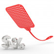 Fly swatter isolated on white background — Stock Photo