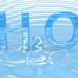 Stock Photo: H2O Water symbol