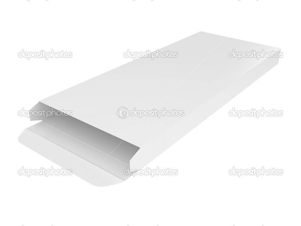 Black opened cardboard box 3D illustration isolated on white background — Stock Photo #3645231