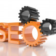 SEO - Search Engine gears - Stock Photo