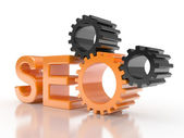 SEO - Search Engine gears — Stock Photo