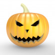 A scary old pumpkin — Stock Photo