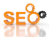 Seo - search engine versnellingen — Stockfoto