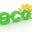3D Eco label — Stock Photo