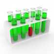 Test tubes on a support - Stock Photo