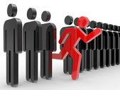 Conceptos de negocio, liderazgo — Foto de Stock